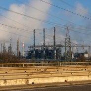 Unter Dampf: Blick von Norden auf das BASF-Werk in Ludwigshafen. (Foto: S. Herold)